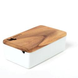 ダーラナホース刻印フタ付き 陶器のバターボックス