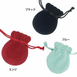 選べる巾着付き★2ライン 馬蹄ネックレス 3色
