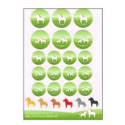 ほのぼの馬が盛りだくさん!オリジナル馬シール24枚